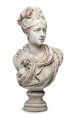 Bust Of Woman By Albert E.C. Belluse, Plaster�