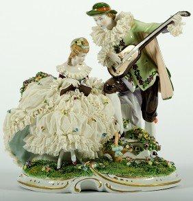 German Schreiber Porcelain Figural Group�