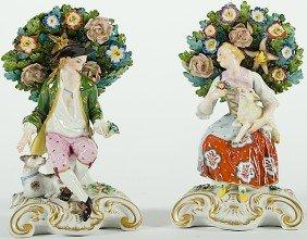 Chelsea Porcelain Bocage Figurines�