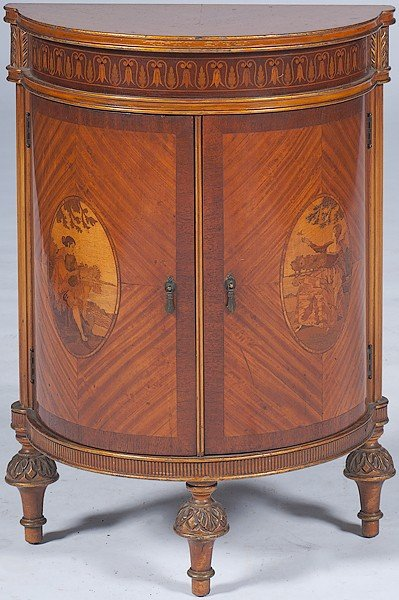 244: English Adam-style Cabinet