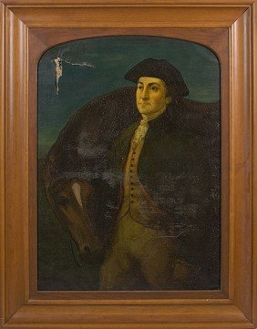 Portrait Of Paul Revere After Peale, Oil On Canvas