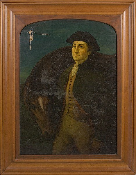 497: Portrait of Paul Revere After Peale, Oil on Canvas