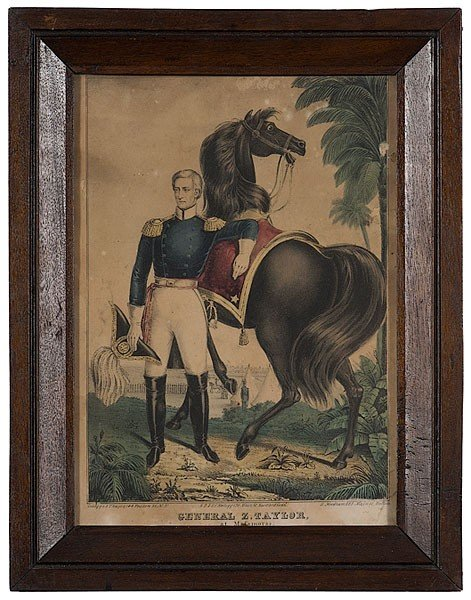 499: Kellogg Lithograph of General Zachary Taylor