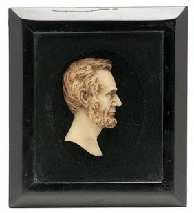 505: Abraham Lincoln Wax Profile Bust
