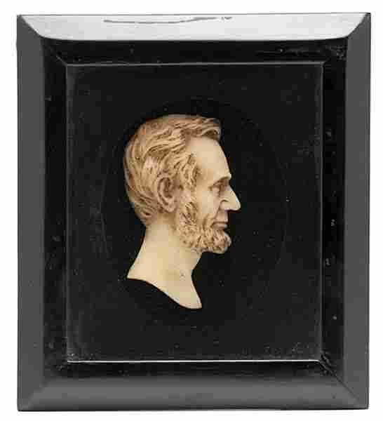 Abraham Lincoln Wax Profile Bust