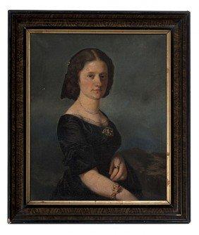 Portrait Of Mrs. Bensinger, Oil On Canvas�