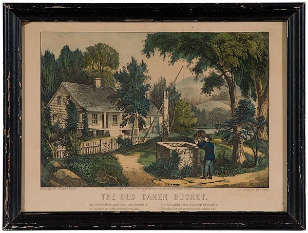 511: The Old Oaken Bucket Currier and Ives Print