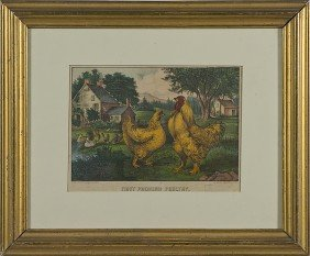 512: First Premium Poultry by Currier & Ives, Medium Fo
