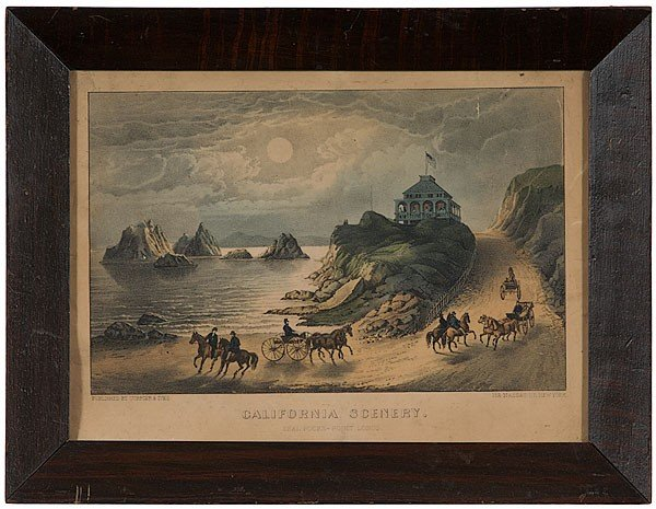 513: California Scenery Currier & Ives Print