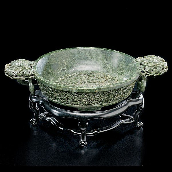 9: Spinach Jade Chinese Marriage Bowl