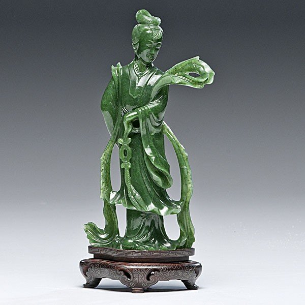 12: Chinese Carved Aventurine Figure