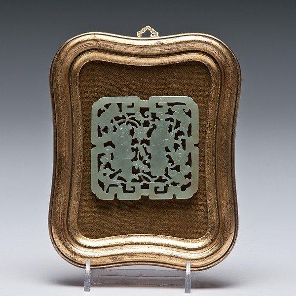 19: Chinese Jade Openwork Plaque