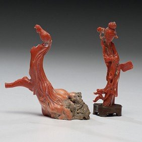Chinese Coral Figures�