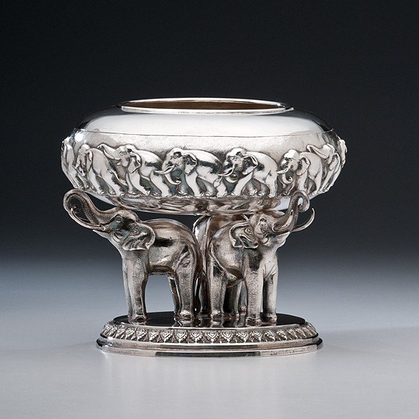 173: Thai Sterling Silver Bowl on Stand
