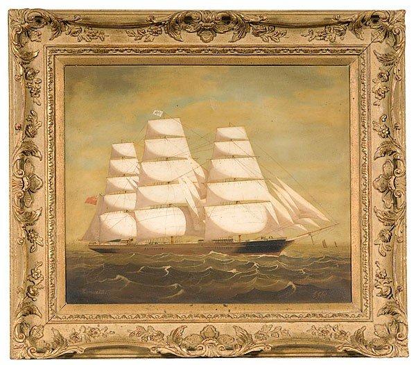 12: English Painting (ca. 1865-1870), Clipper Ship