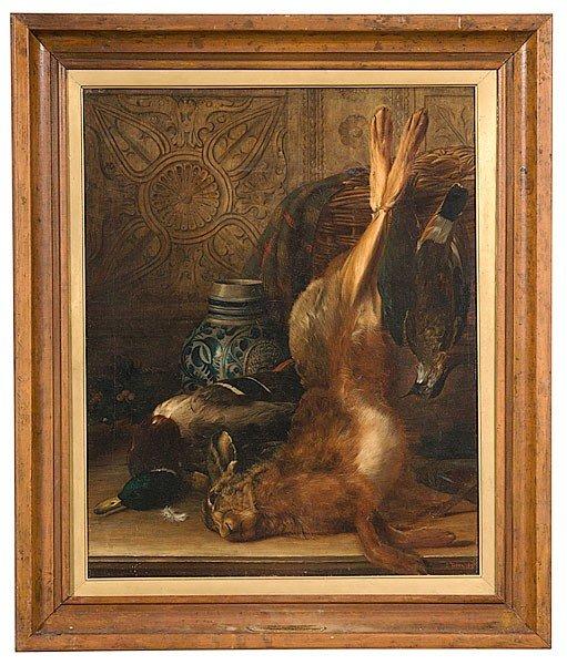 17: James Tibbetts (British, 19th Century) Tromp L'oeil