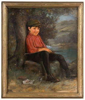 Karl Witkowski (Amer., 1860-1910), Young Fisherman