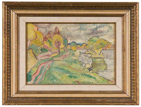 35: Louis Valtat (French, 1869-1952), Bord de Seine