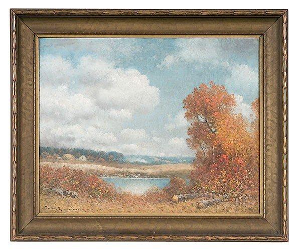 46: Frank Ressel Green (Ohio, 1856-1949) Fall Landscape