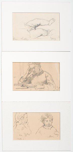 47: Henry Mosler (Ohio, 1841-1920), Figural Studies
