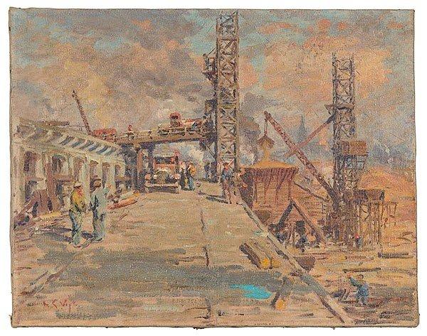 48: Louis Vogt (Ohio, 1864-1939), Cincinnati Bridge