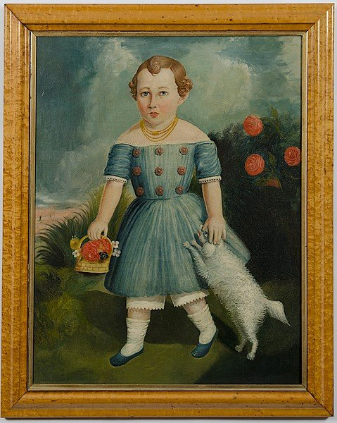 5: Folk Art Portrait of a Boy