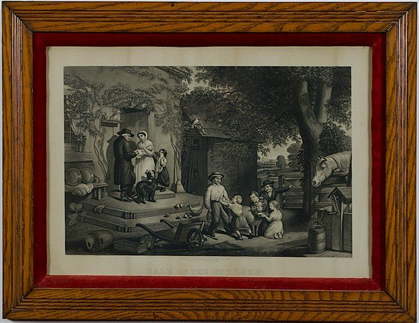 7: Bradley & Co. Sale of the Pet Lamb Lithograph