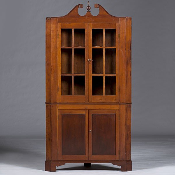 15: Kentucky Cherry Corner Cupboard