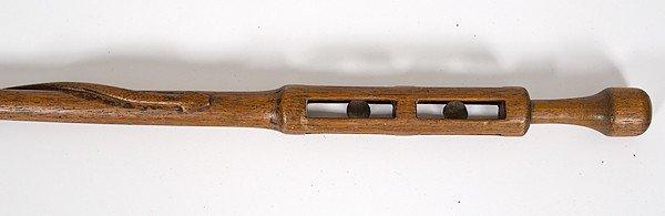 64: Folk Art Carved Wood Cane