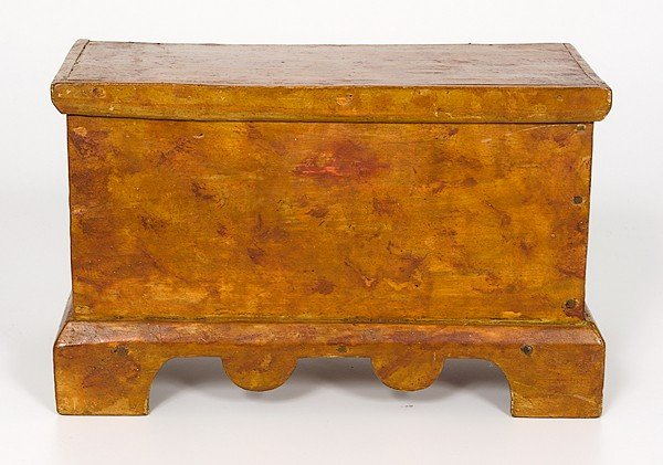 87: Miniature Painted Blanket Chest