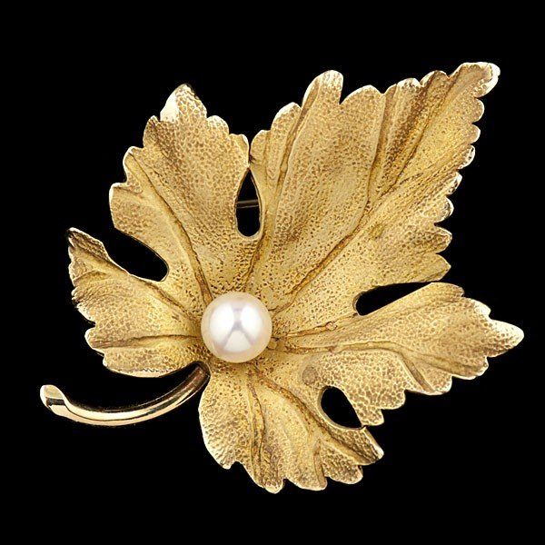 1: Tiffany & Co. Leaf Brooch