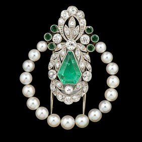 Emerald And Diamond Fur Clip�