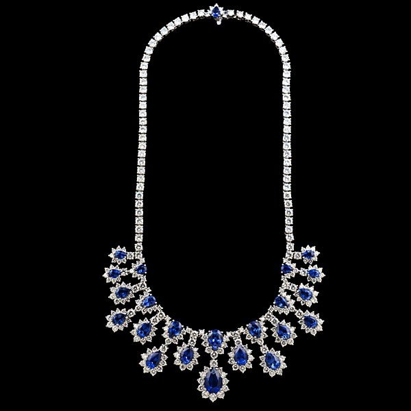 94: Sapphire and Diamond Statement Necklace