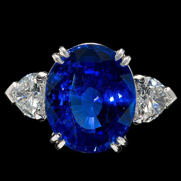 96: 15.77cts Sapphire and Diamond Ring