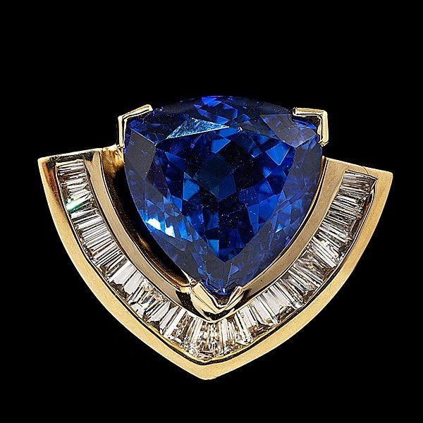 97: Retro-Style Tanzanite and Diamond Slide