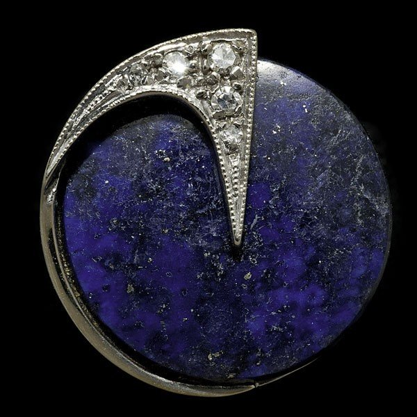 98: Art Deco Lapis Ring