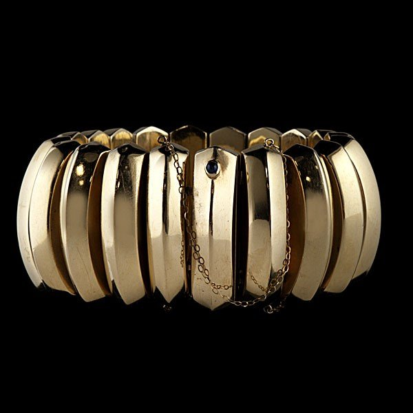 102: Retro Gold Statement Bracelet