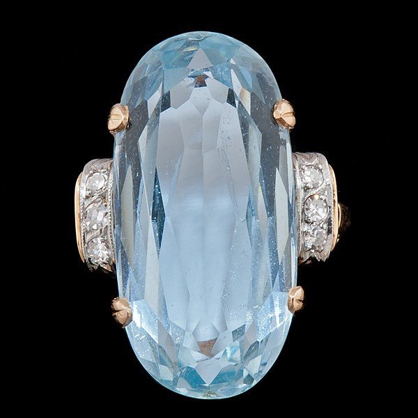 103: Aquamarine Ring