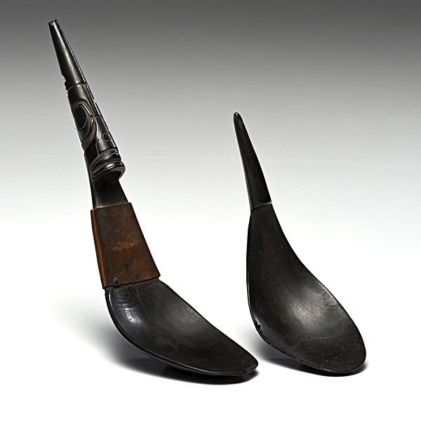 11: Northwest Coast Horn Spoons Collected by Admiral Je
