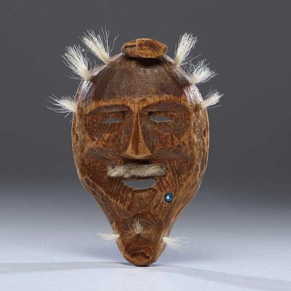21: Eskimo Wooden Ancestor Mask