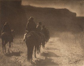 Edward S. Curtis Signed Platinum Photograph, The V