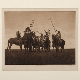 Edward S. Curtis Photogravure Atsina Warriors�