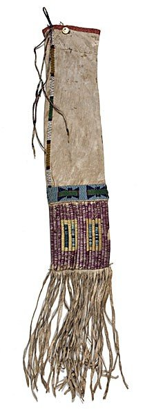 Sioux Beaded Hide Tobacco Bag�