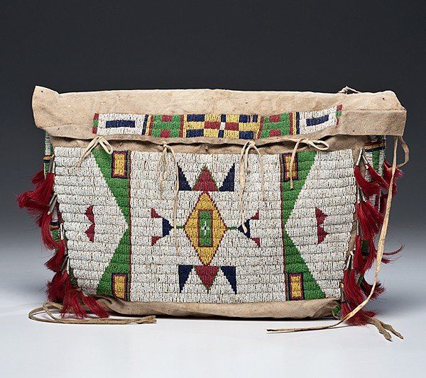 123: Sioux Beaded Hide Possible Bag