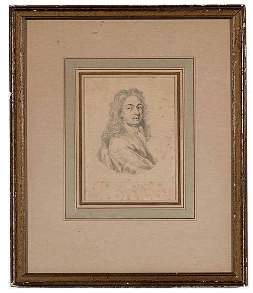 5: Portrait of Sir John Medina by George Vertue, Pencil