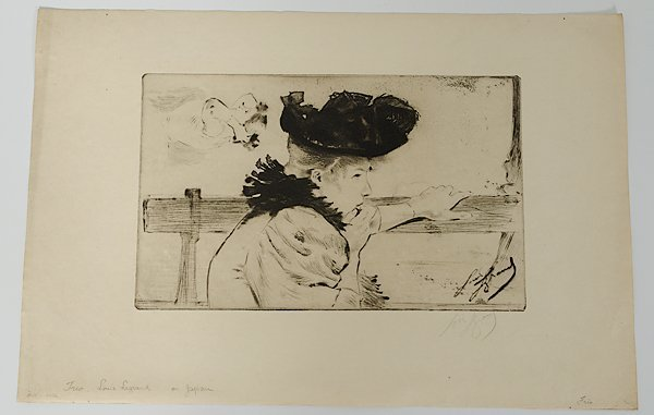 13: Etching of Women by Louis Legrand, Plus
