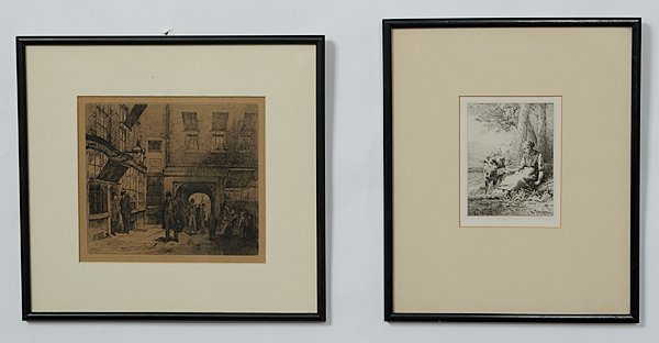 14: Fine Group of Continental Etchings by Listed Artist