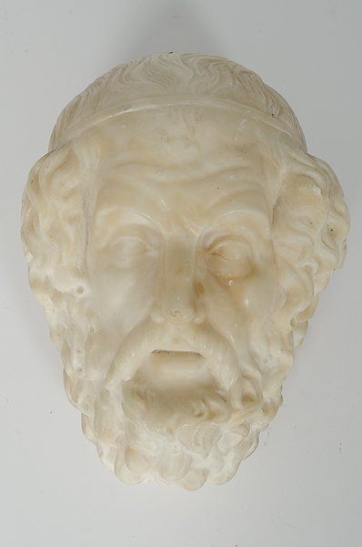 16: Marble Portrait Head of a Philosopher