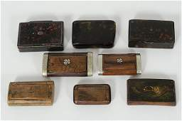 28 19th Century Continental Snuff Boxes
