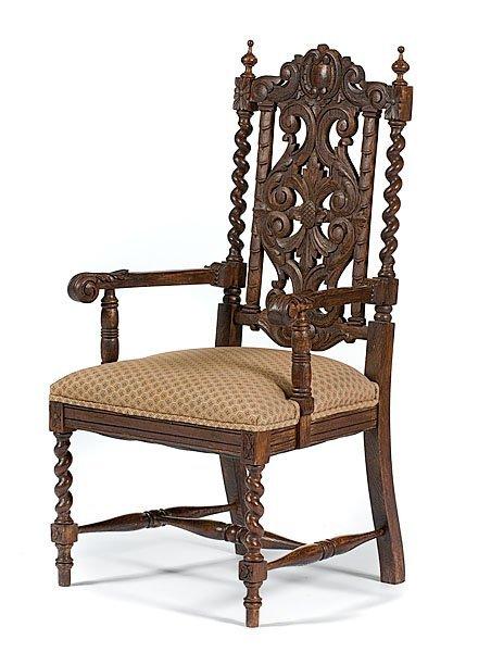36: Tudor-style Carved Armchair